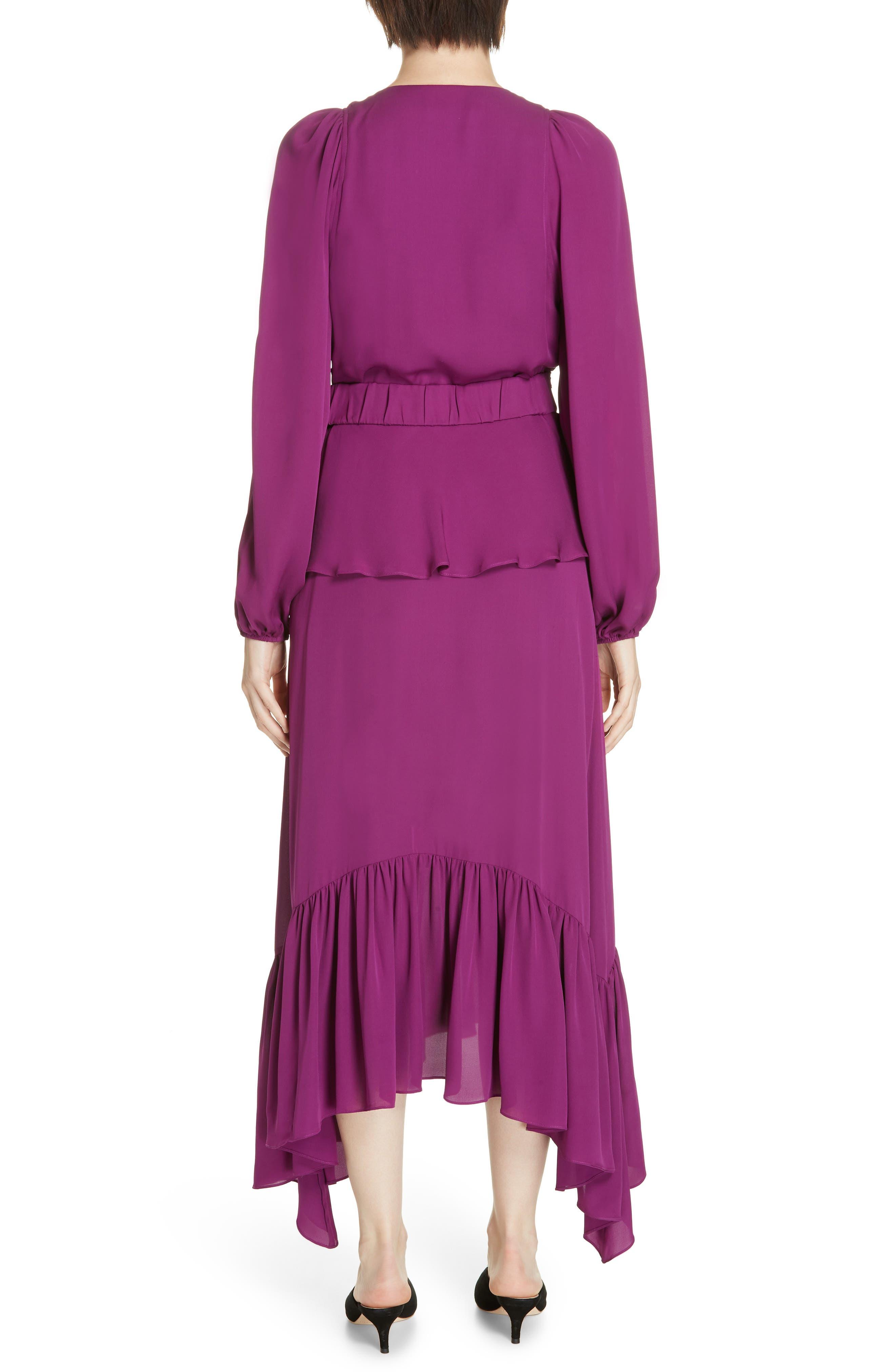 ,                             Stanwyck Ruffle Silk Dress,                             Alternate thumbnail 2, color,                             500