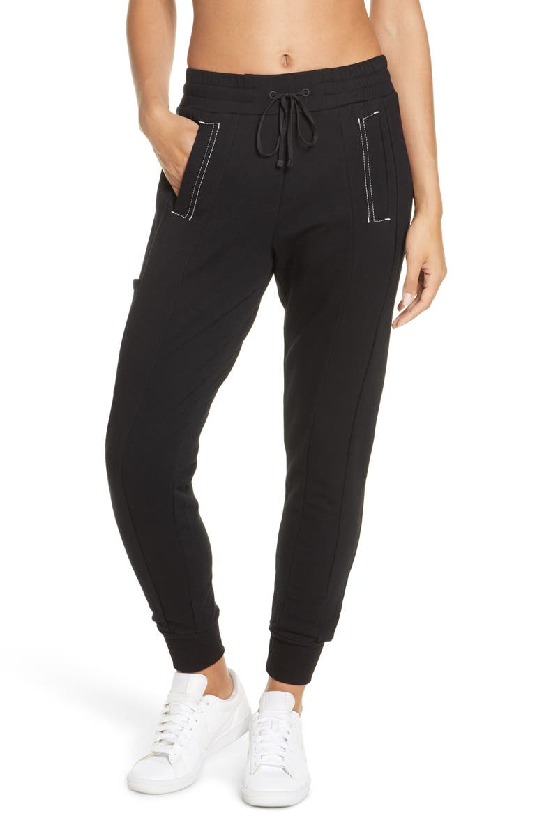 BLANC NOIR Yolo Contrast Stitch Jogger Pants, Main, color, 001