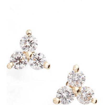Ef Collection Diamond Trio Stud Earrings