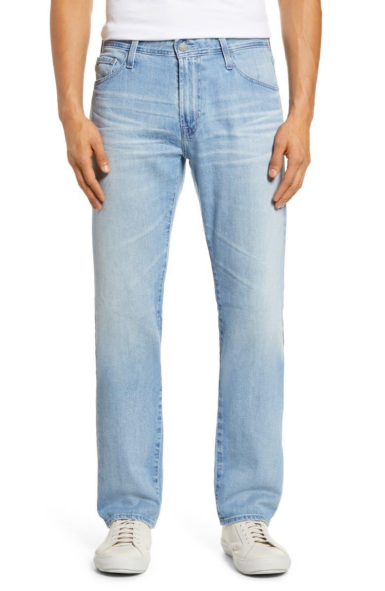 AG Everett Slim Straight Leg Jeans, Main, color, 21 YEARS COMITY