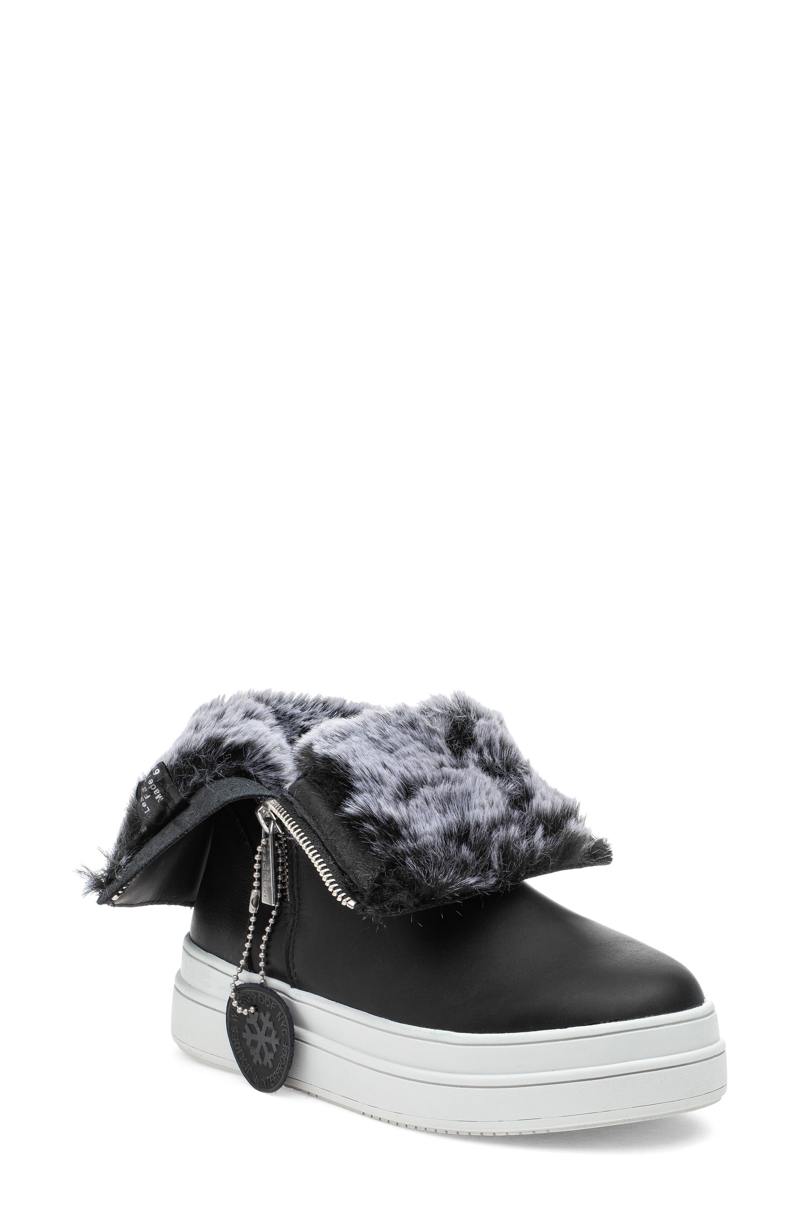 Tristan Faux Fur Platform Sneaker Bootie