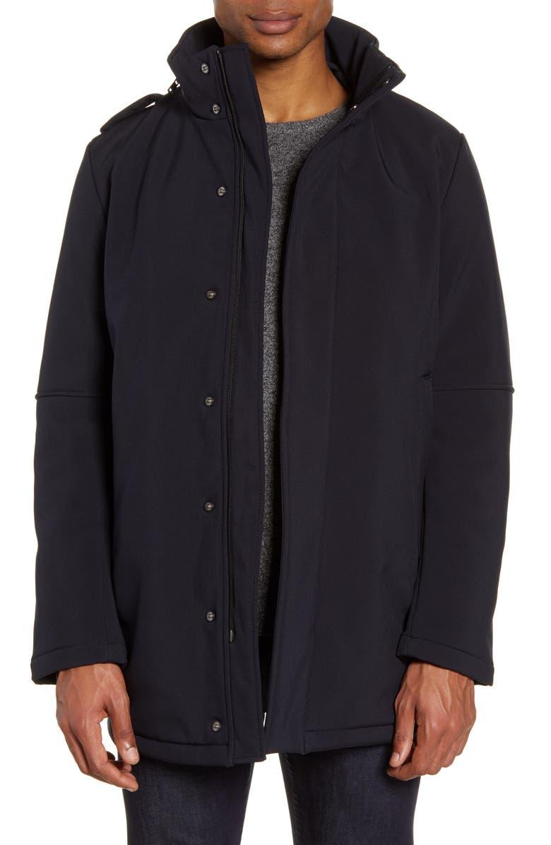 ZACHARY PRELL Rowan Water Resistant Jacket, Main, color, NAVY