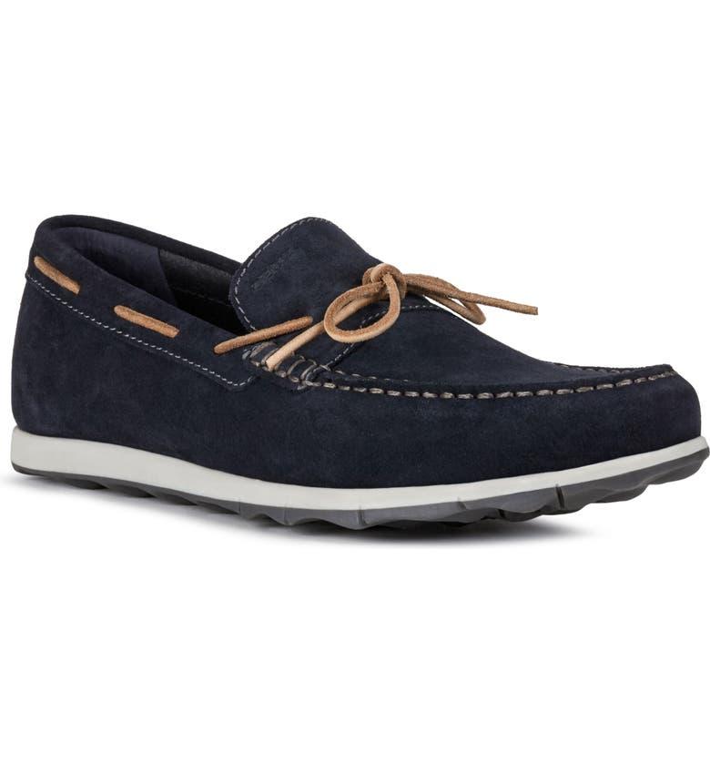 GEOX Calarossa 1 Boat Shoe, Main, color, NAVY