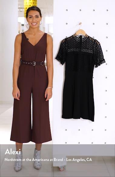 Lace Bodice Mock Neck Fit & Flare Dress, sales video thumbnail