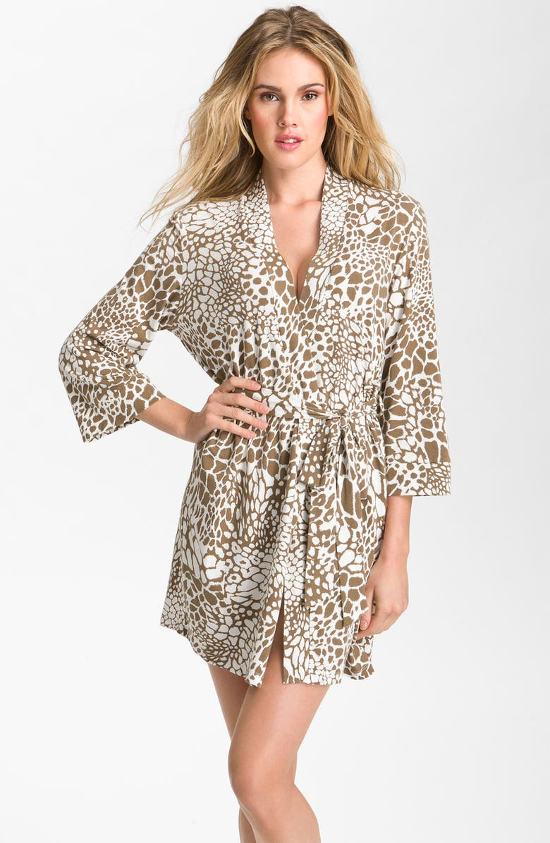 IN BLOOM BY JONQUIL 'Animal Patch' Wrap Robe, Main, color, 207