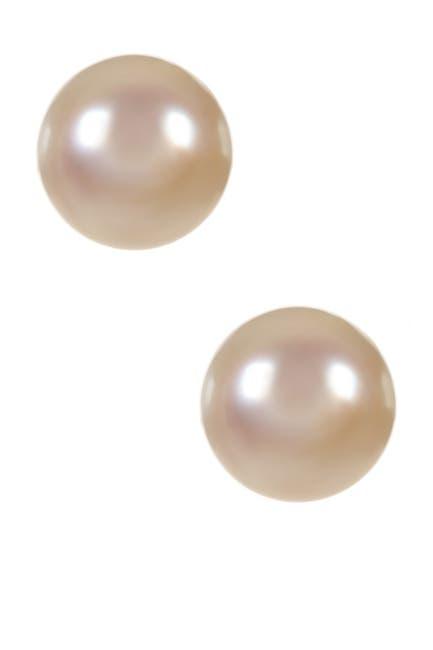 Image of Splendid Pearls 14K Yellow Gold 11-12mm White Freshwater Pearl Stud Earrings