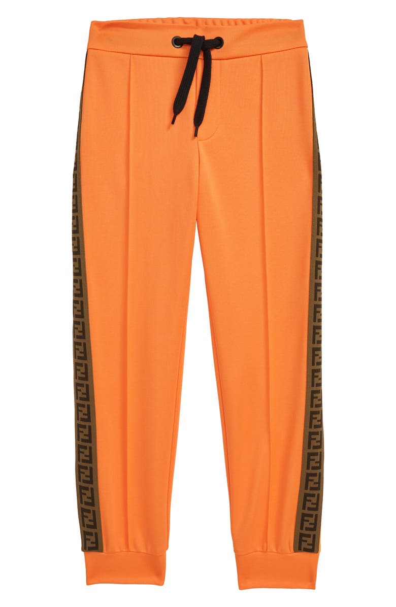 FENDI FF Logo Tape Track Sweatpants, Main, color, 800
