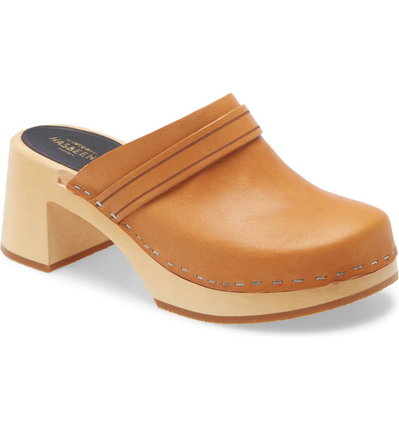 SWEDISH HASBEENS Dagny Clog, Main, color, NATURE LEATHER