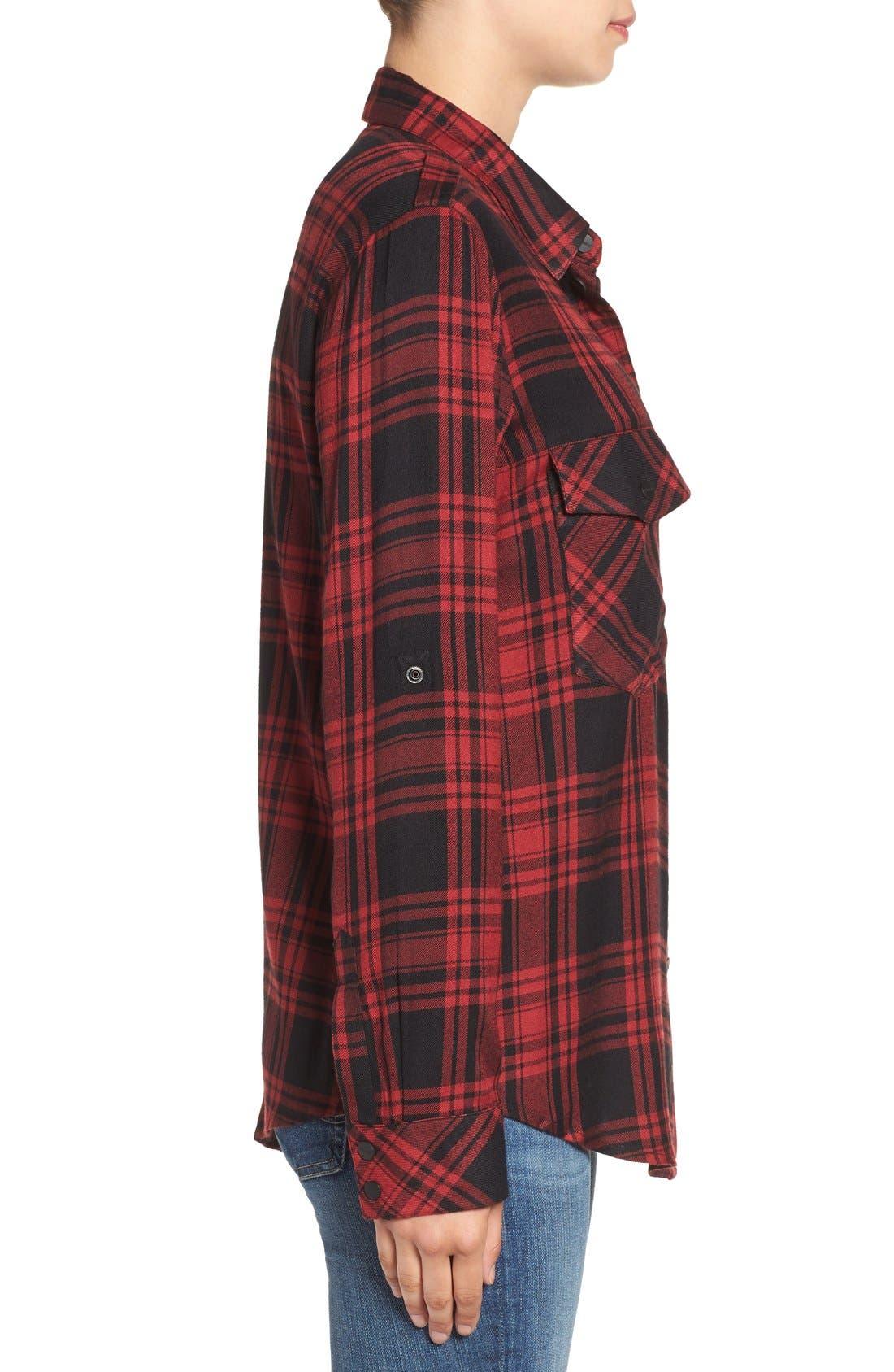 ,                             Plaid Flannel Boyfriend Shirt,                             Alternate thumbnail 14, color,                             603
