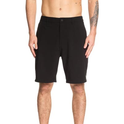 Quiksilver Waterman Collection Backwater Amphibian Hybrid Shorts, Black