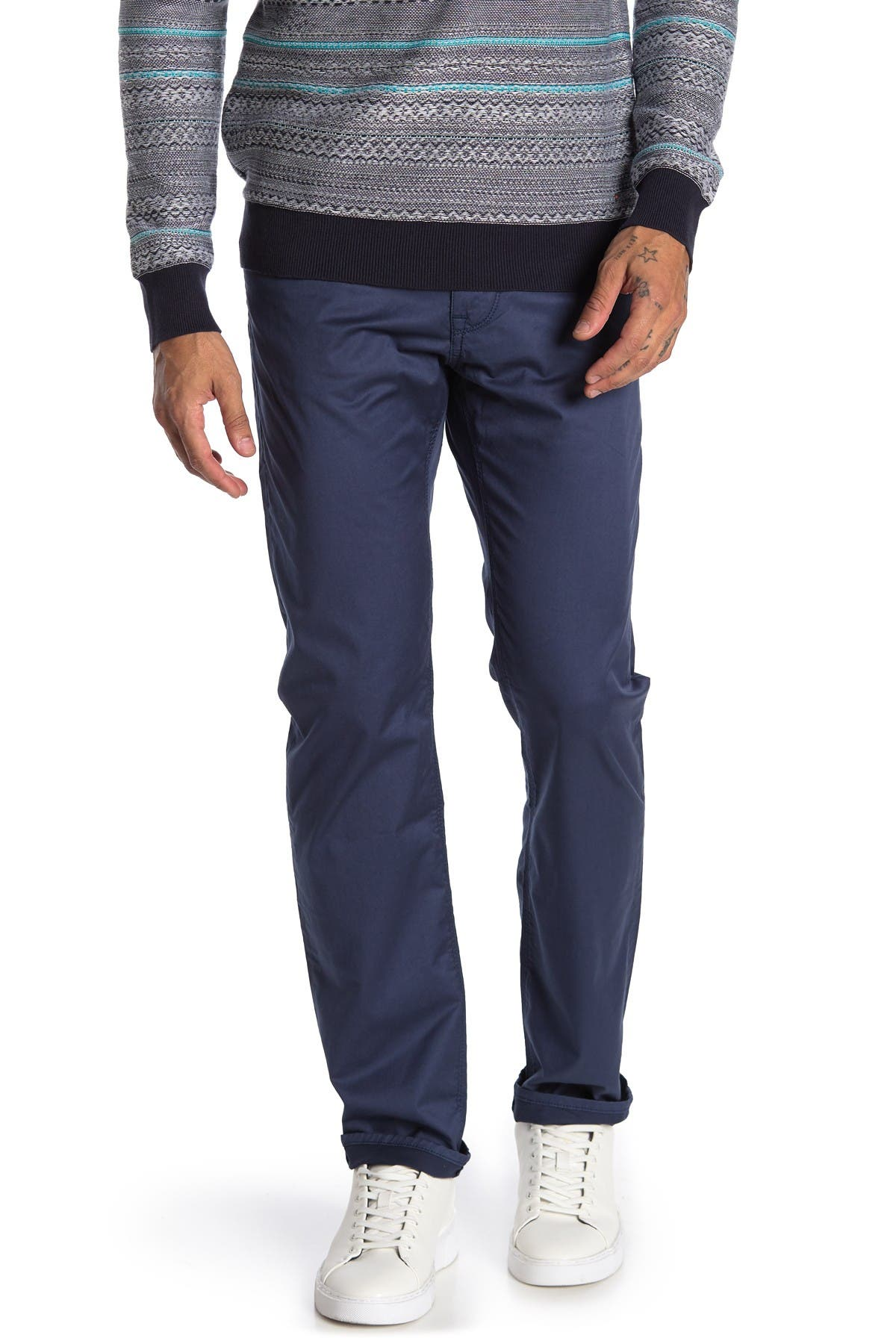 """Image of BOSS Maine Stretch Regular Fit Jeans - 30-34"""" Inseam"""