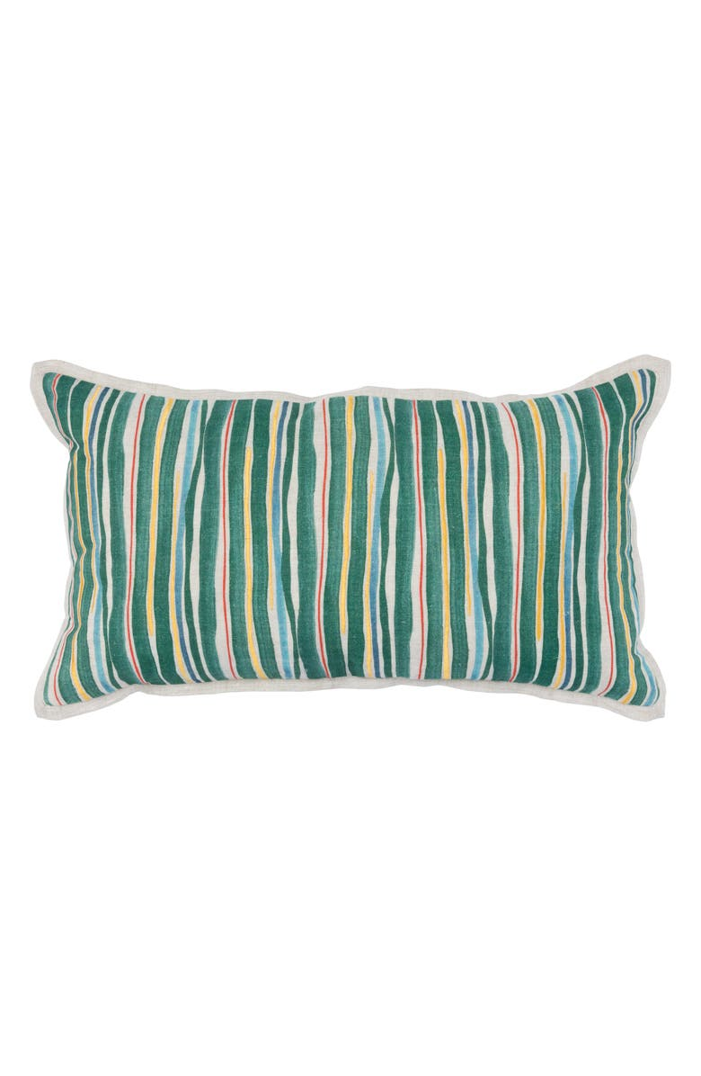 VILLA HOME COLLECTION Blythe Ivy Accent Pillow, Main, color, GREEN