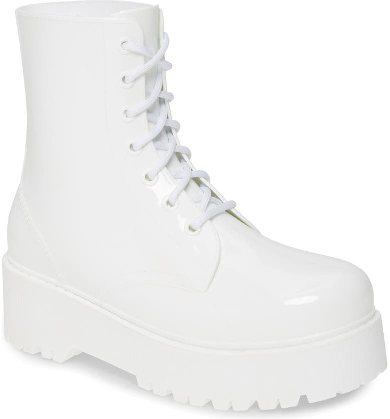 JEFFREY CAMPBELL Torrent-2 Waterproof Platform Rain Boot, Main, color, WHITE SHINY
