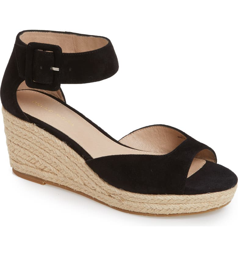 PELLE MODA Kauai Platform Wedge Sandal, Main, color, BLACK