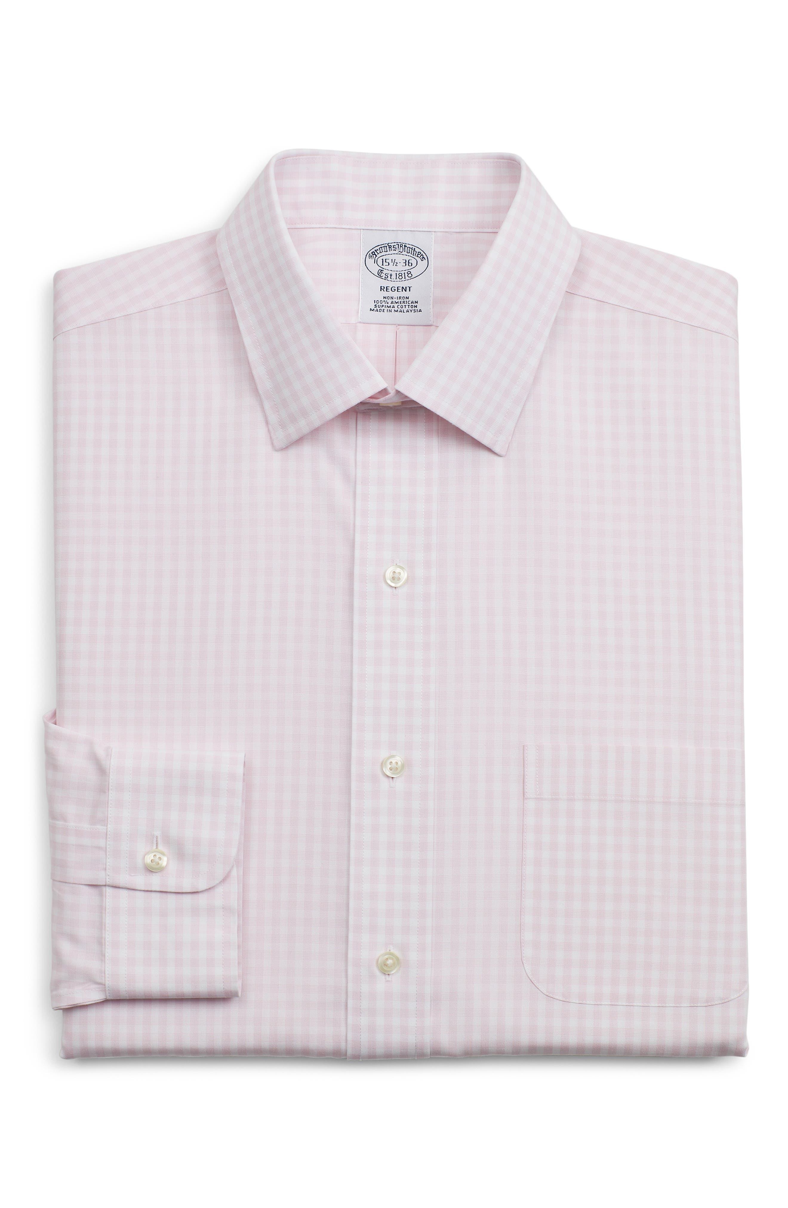 Brooks Brothers Regent Regular Fit Check Dress Shirt (3 For $207)