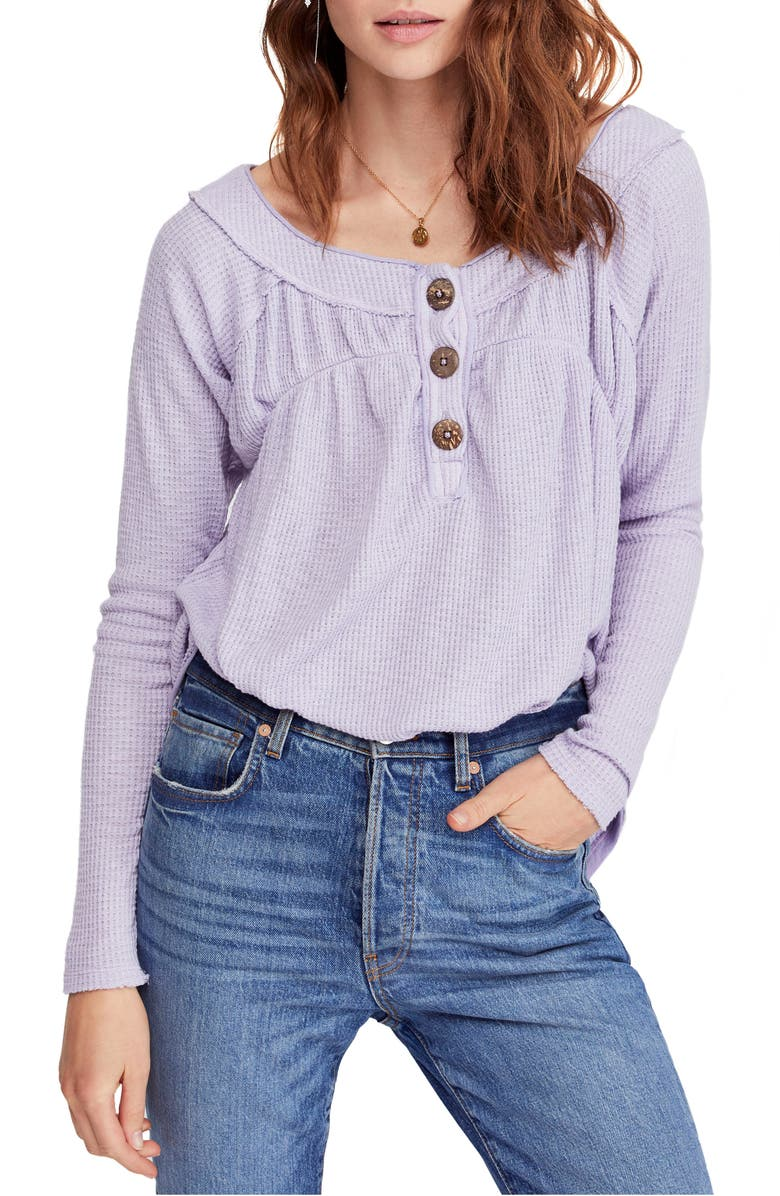 FREE PEOPLE Must Have Henley, Main, color, LILAC