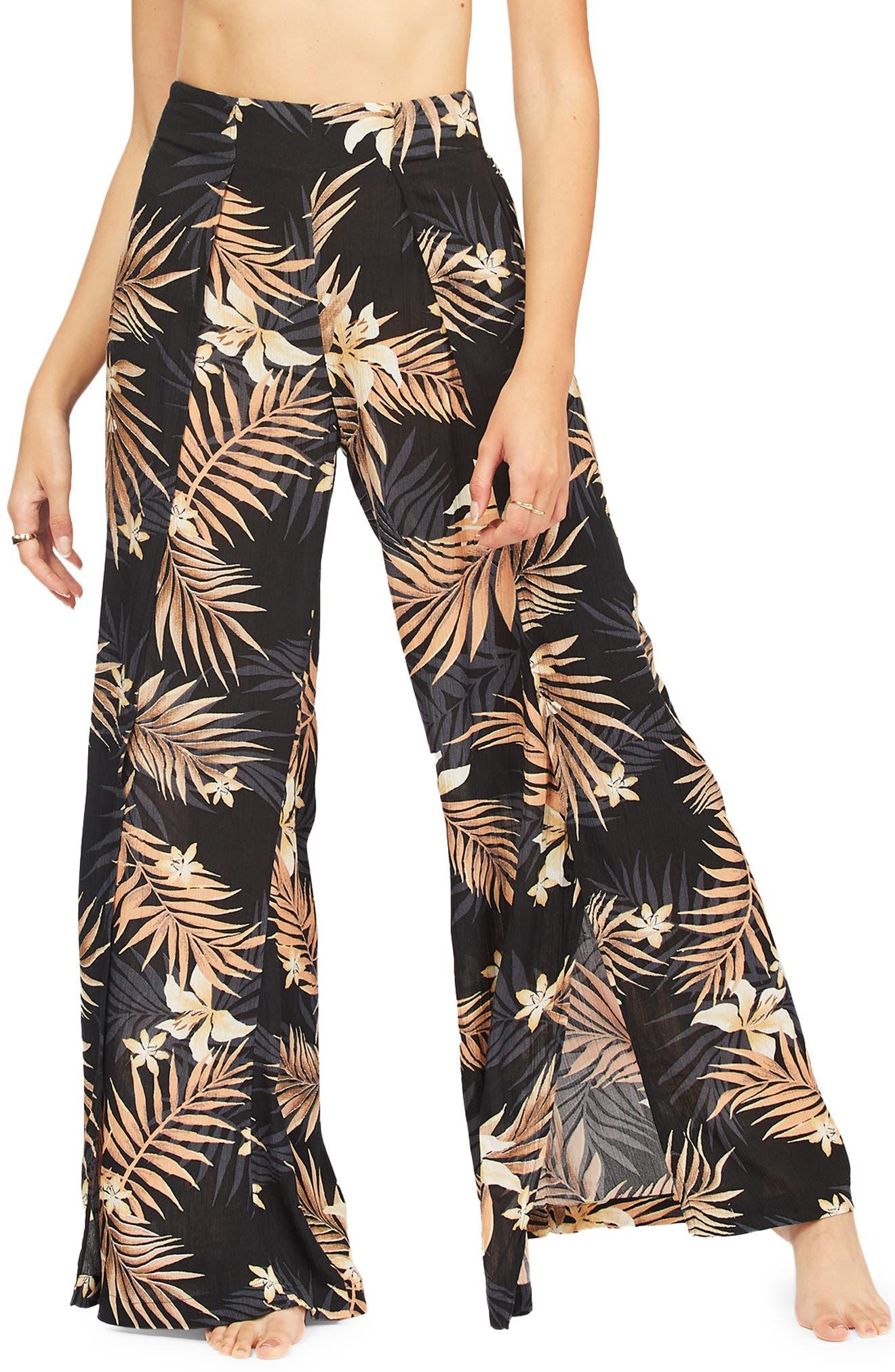 Split Spirit Floral Wide Leg Pants