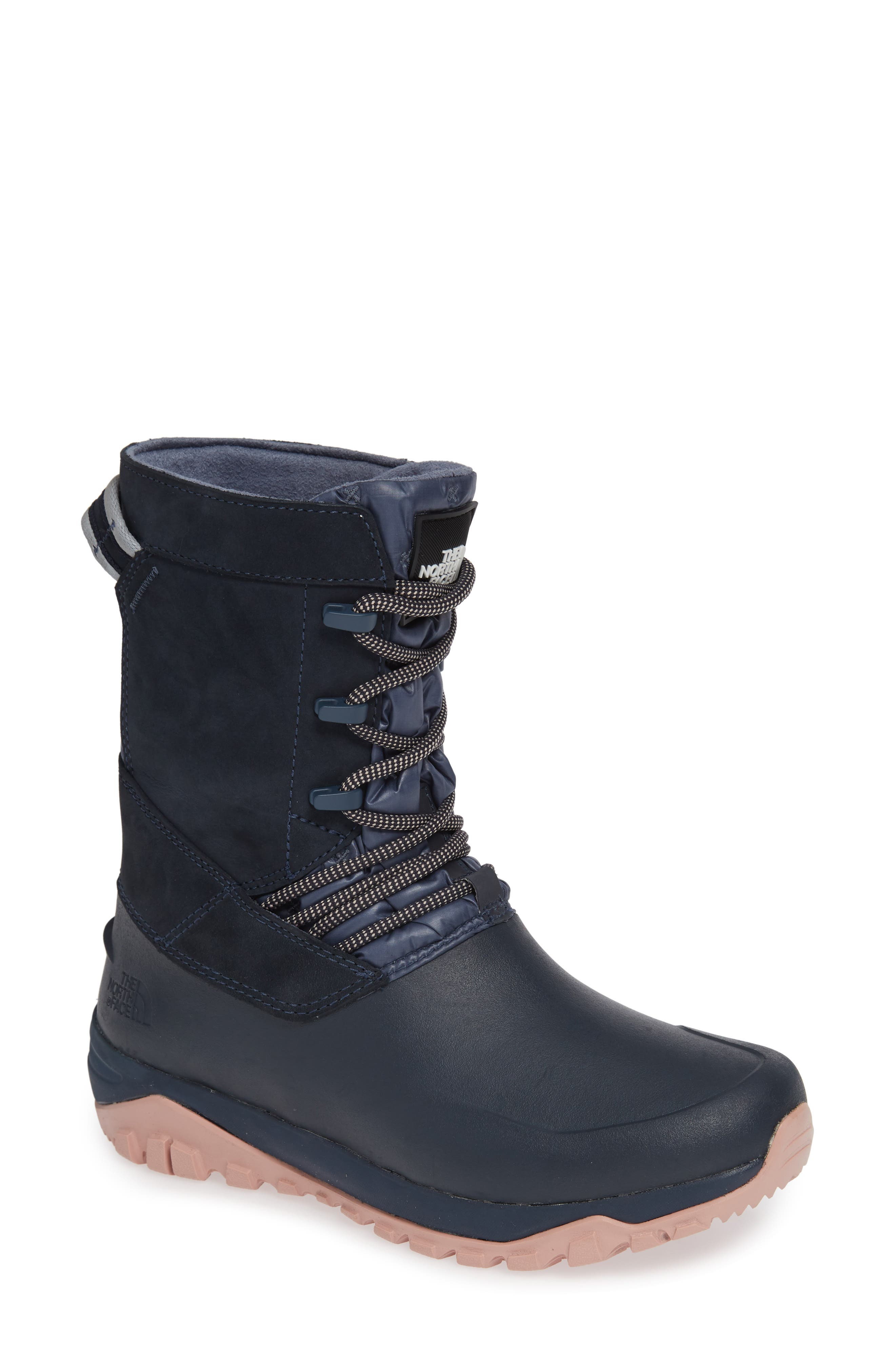 The North Face Yukiona Waterproof Winter Boot, Blue