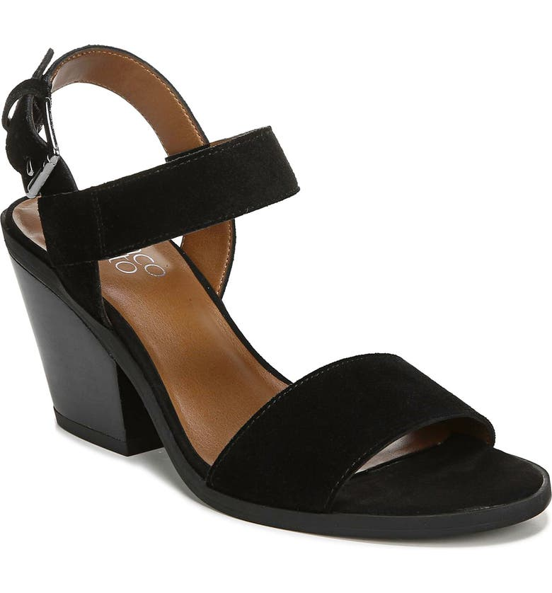 FRANCO SARTO Kenlee Sandal, Main, color, BLACK SUEDE