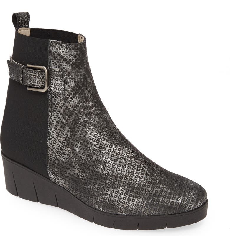 AMALFI BY RANGONI Gianmaria Bootie, Main, color, BLACK PRINT LEATHER