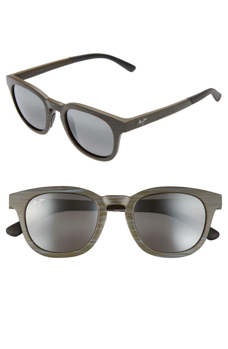 MAUI JIM Koko Head 48mm PolarizedPlus2<sup>®</sup> Sunglasses, Main, color, MATTE AQUA WOOD GRAIN/ GREY