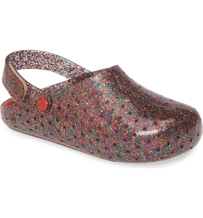 MINI MELISSA Furandi Glitter Clog, Main, color, GLITTER MULTI COLOR