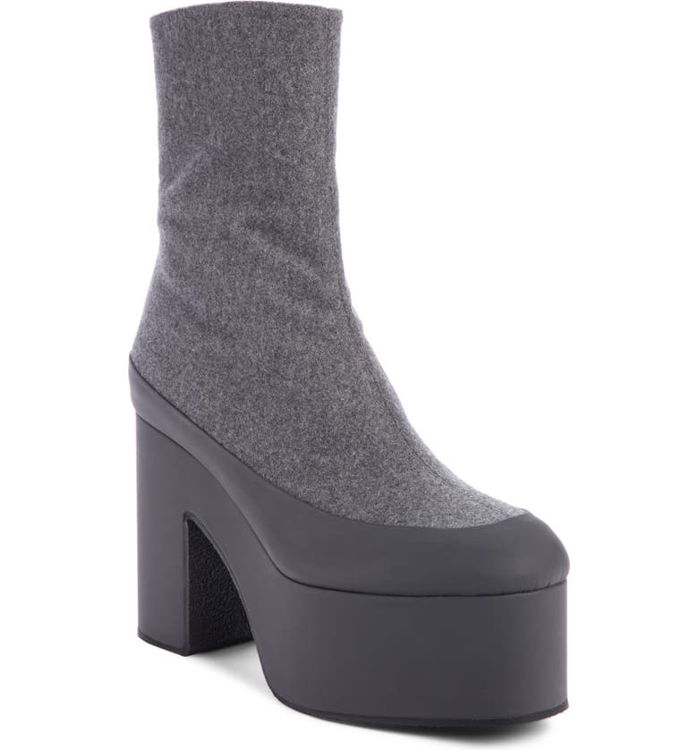 DRIES VAN NOTEN Platform Bootie, Main, color, GREY