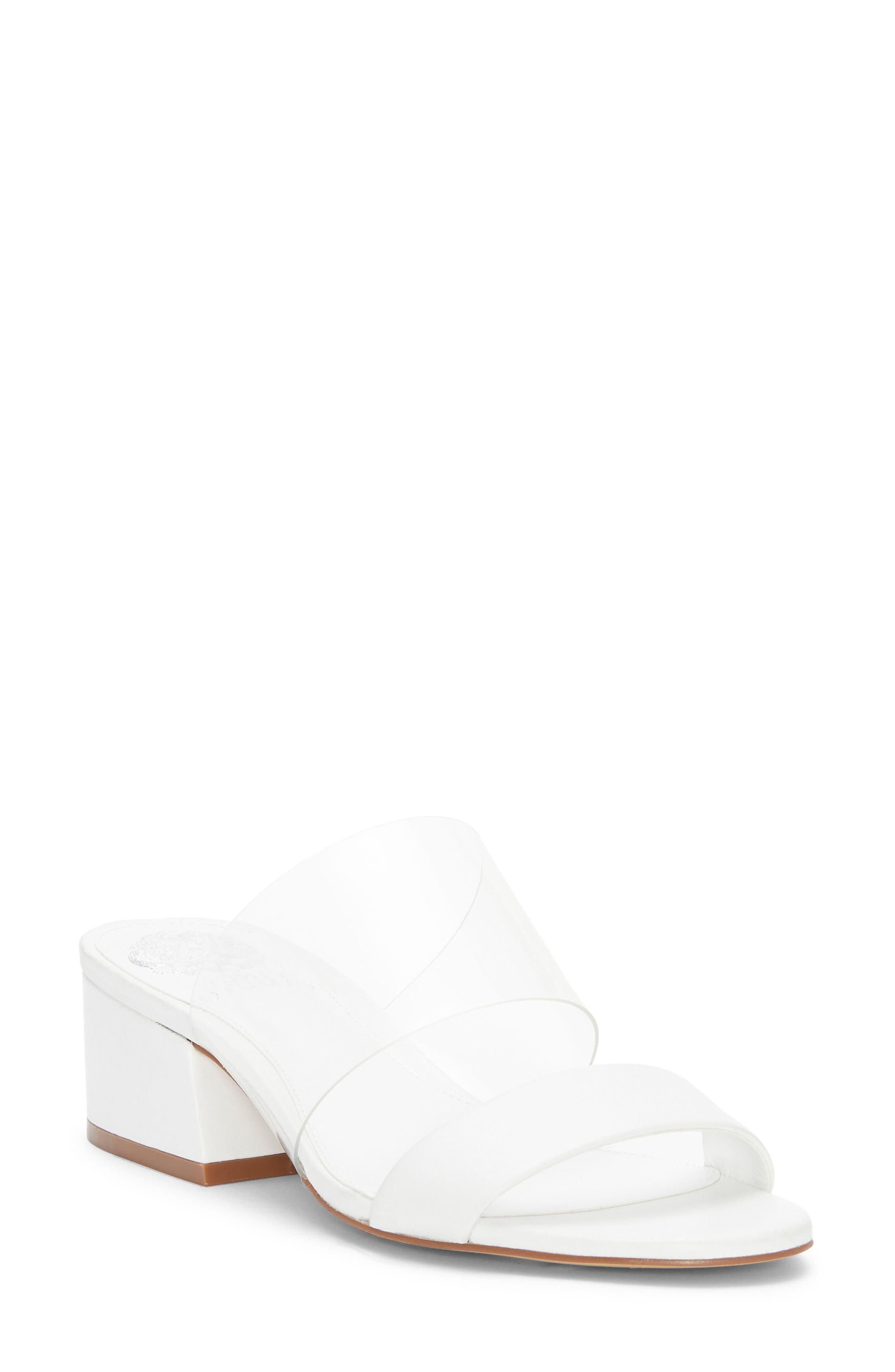 Vince Camuto Caveera Slide Sandal- White