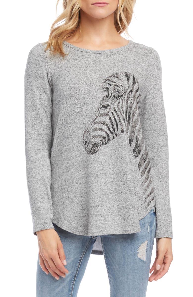 KAREN KANE Zebra Sweater, Main, color, 021