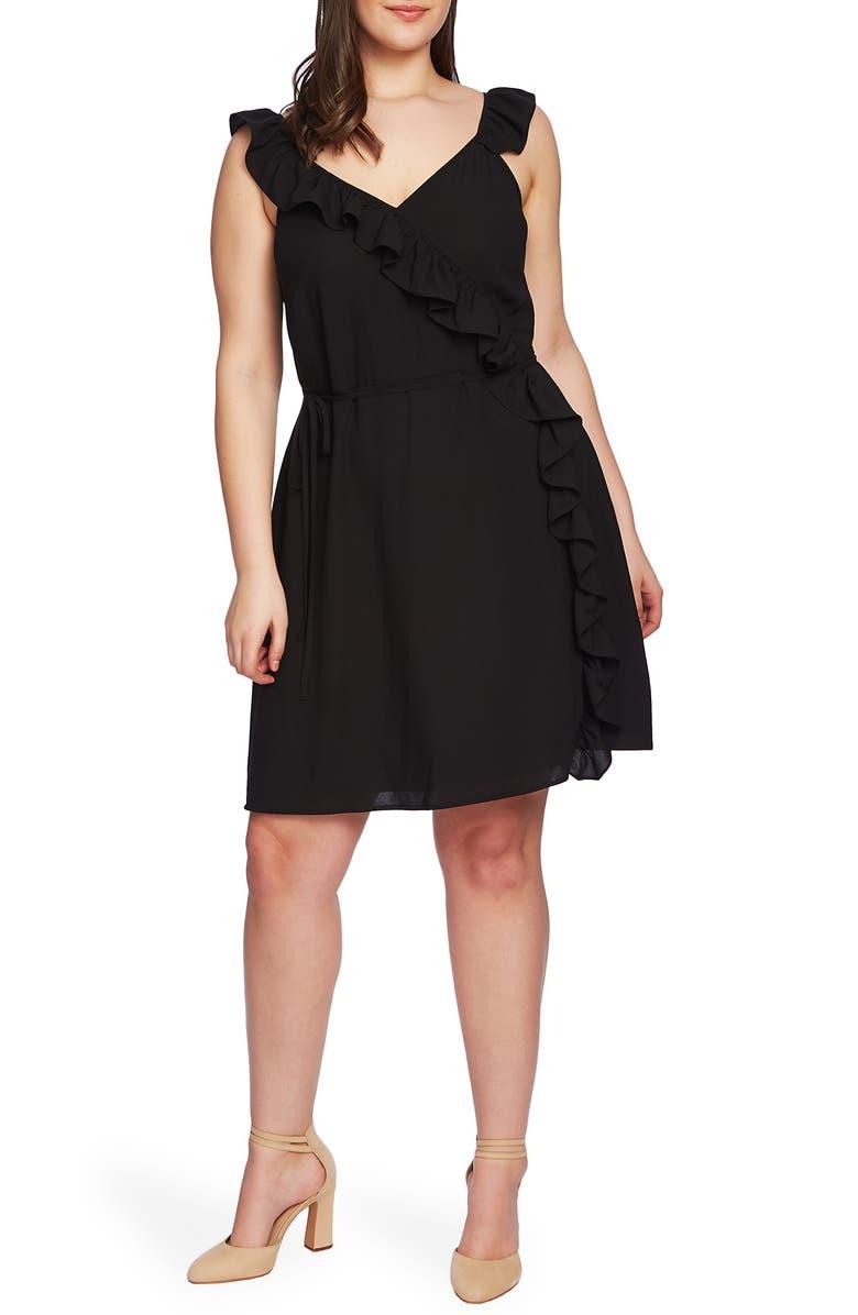 1.STATE Ruffle Trim Wrap Dress (Plus Size) | Nordstrom