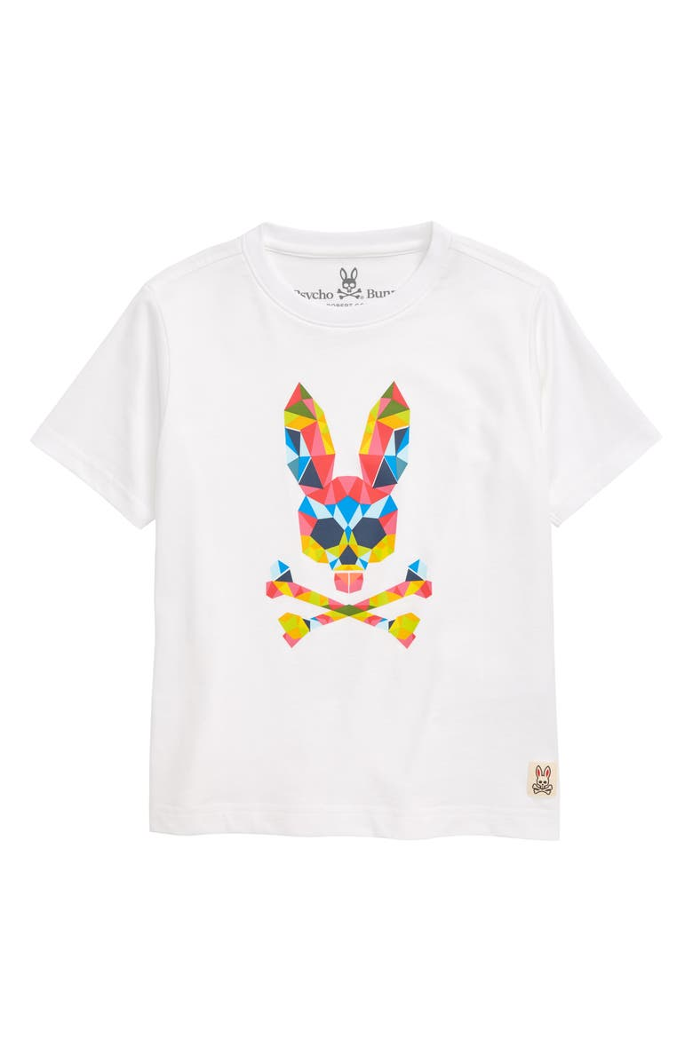PSYCHO BUNNY Kidd Logo Graphic Tee, Main, color, 100