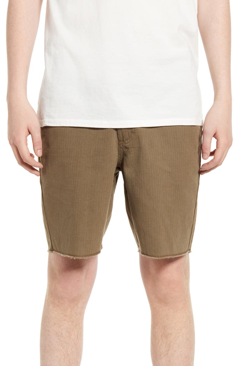 BANKS JOURNAL Downtown Walking Shorts, Main, color, ARMY OLIVE
