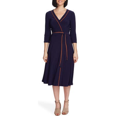 Chaus Elemental Wrap Dress, Blue