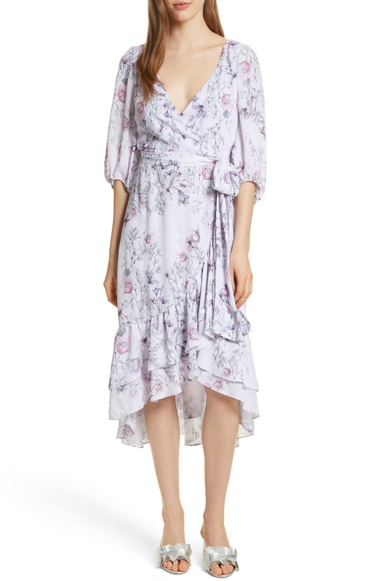 PROSE AND POETRY Prose & Poetry Christina Ruffle Wrap Dress, Main, color, 534