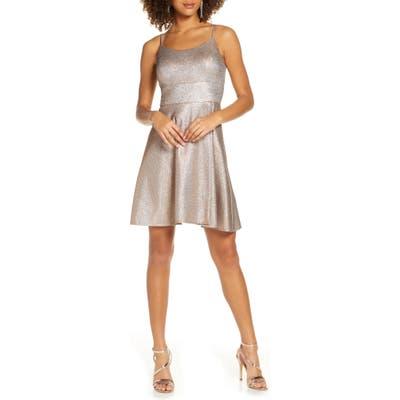 Morgan & Co. Shimmer Skater Dress