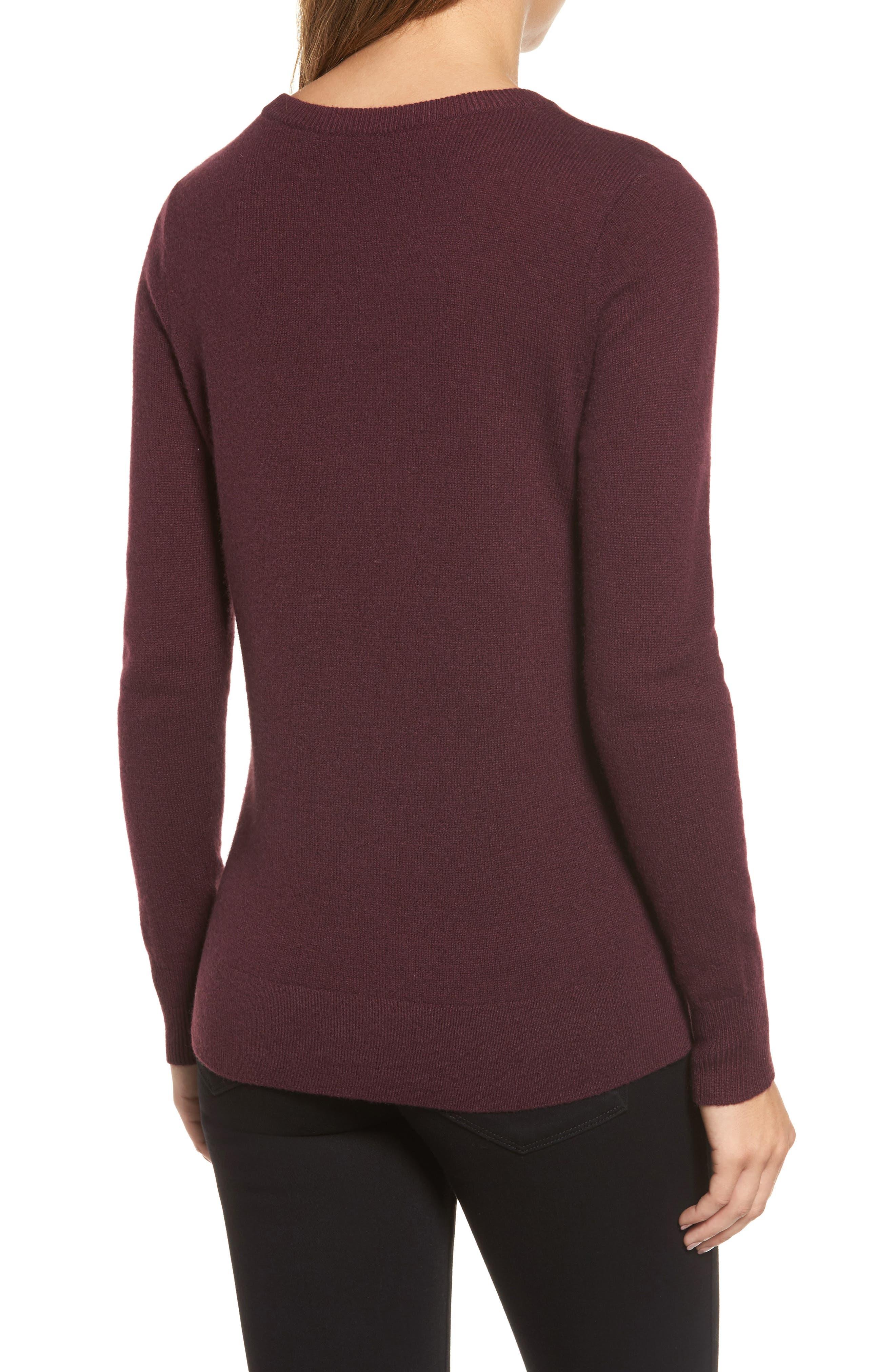 ,                             Crewneck Cashmere Sweater,                             Alternate thumbnail 289, color,                             930