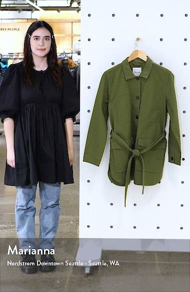 Tie Waist Military Jacket, sales video thumbnail