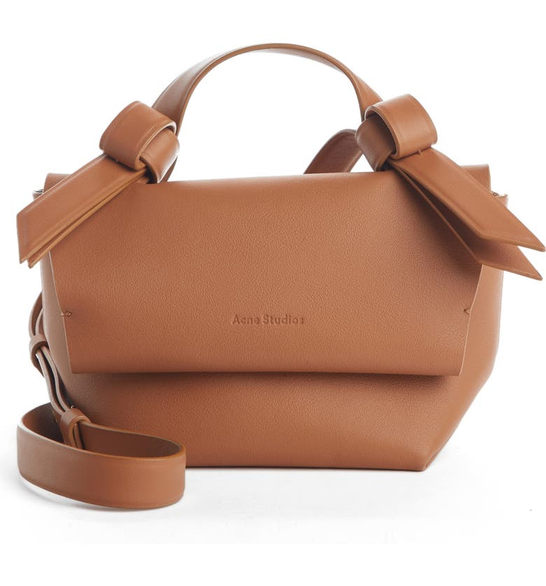 ACNE STUDIOS Musubi Milli Crossbody Bag, Main, color, BROWN