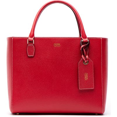 Frances Valentine Olivia Boarskin Leather Tote - Red