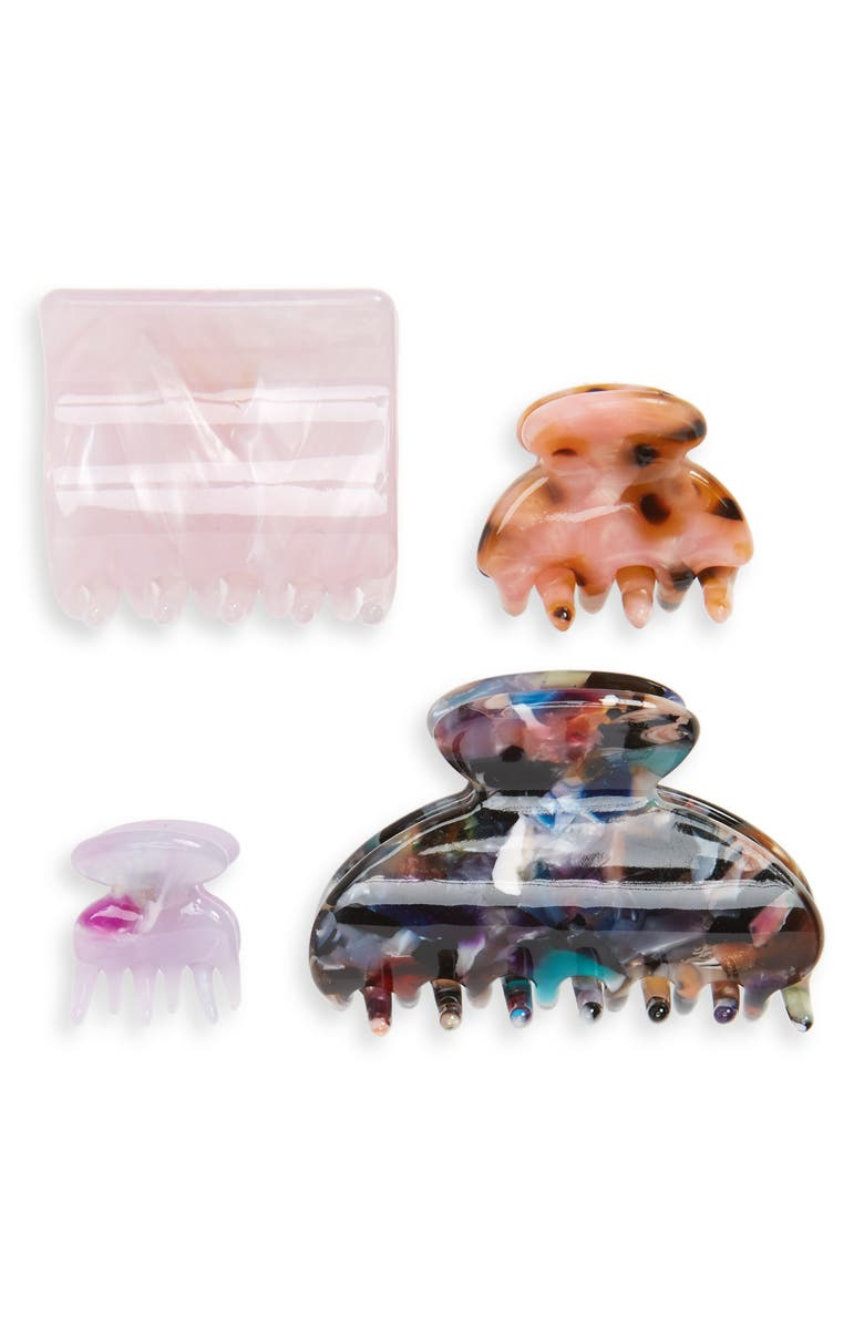 TASHA 4-Pack Hair Clips, Main, color, MIX IT UP COMBO