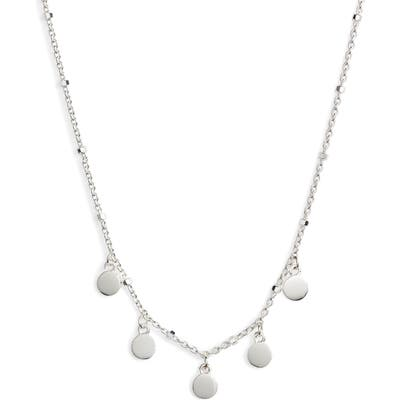 Argento Vivo Mirror Charm Short Necklace