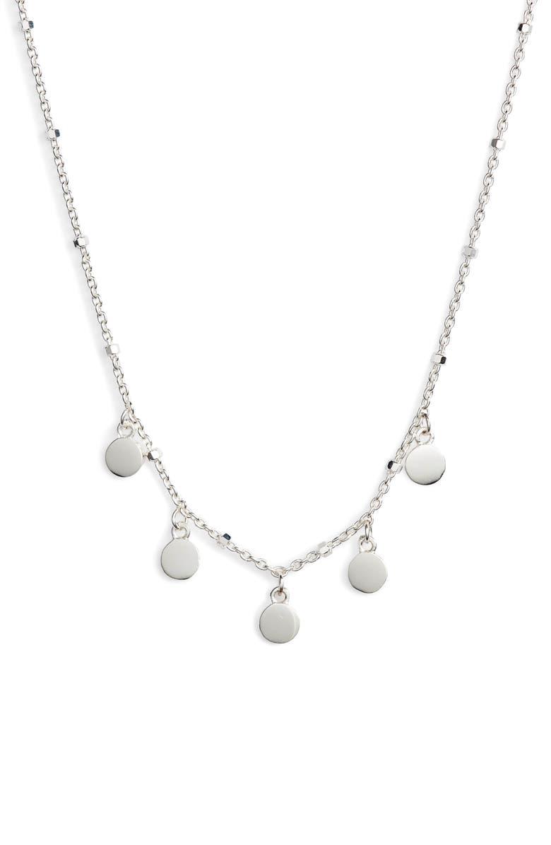 ARGENTO VIVO Mirror Charm Short Necklace, Main, color, 040