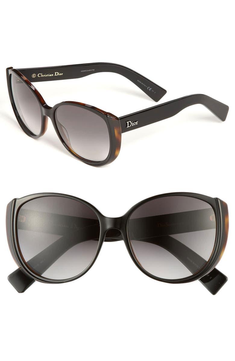 DIOR 'Summer' 56mm Retro Sunglasses, Main, color, 001