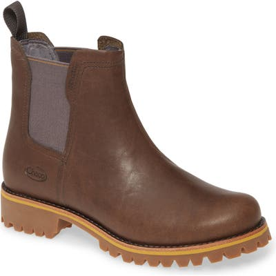 Chaco Fields Waterproof Chelsea Boot, Brown