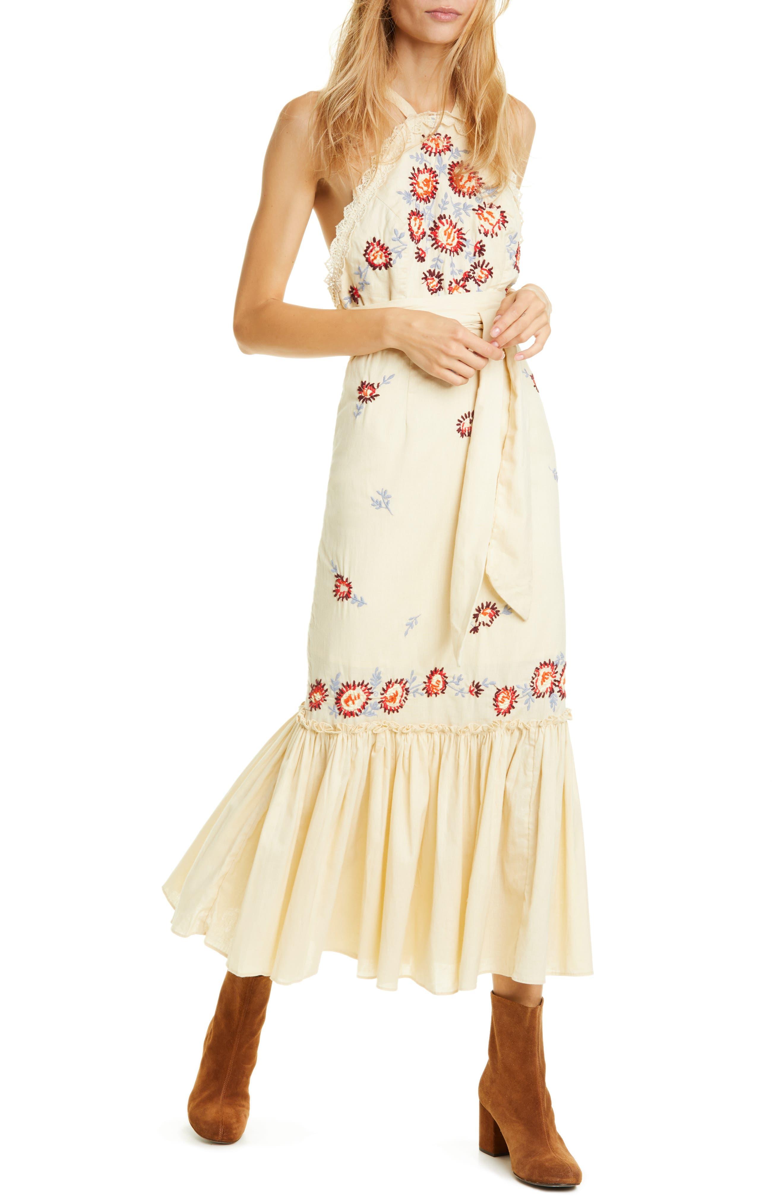 Free People Chrysanthemum Kiss Maxi Dress, Ivory