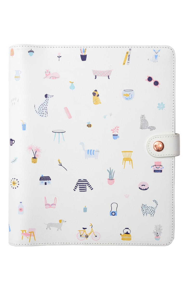 KIKKI.K Large Leather Planner, Main, color, CREAM