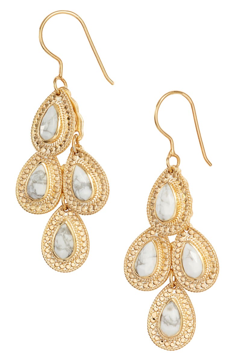 ANNA BECK Howlite Chandelier Earrings, Main, color, 020
