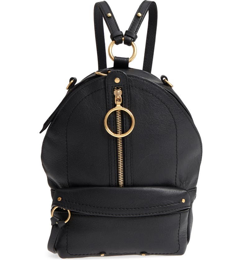 SEE BY CHLOÉ Mini Mino Leather Backpack, Main, color, 001