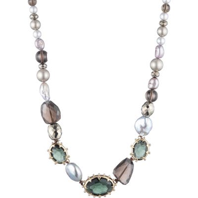 Alexis Bittar Georgian Mixed Stone Collar Necklace