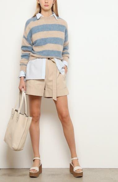 Stripe Mohair & Wool Blend Sweater, video thumbnail